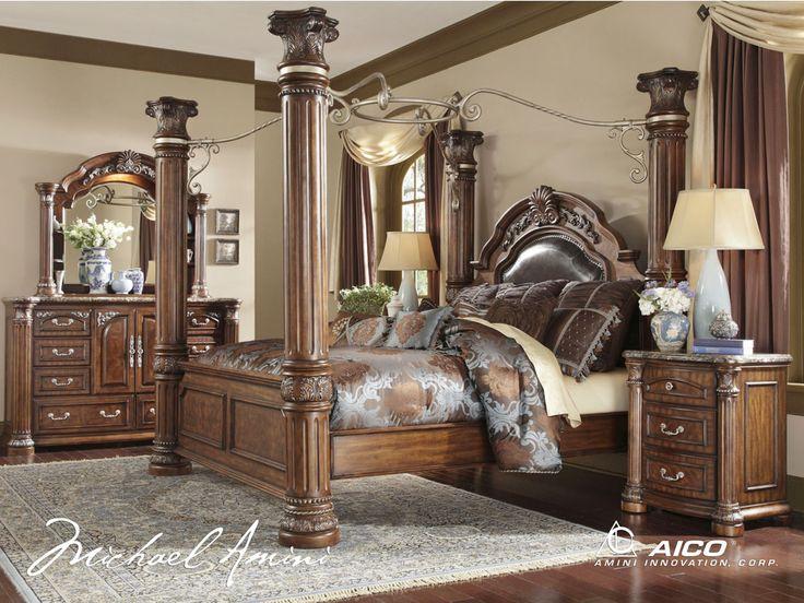 AICO Monte Carlo II Poster Bed | Aico Bedroom Furniture