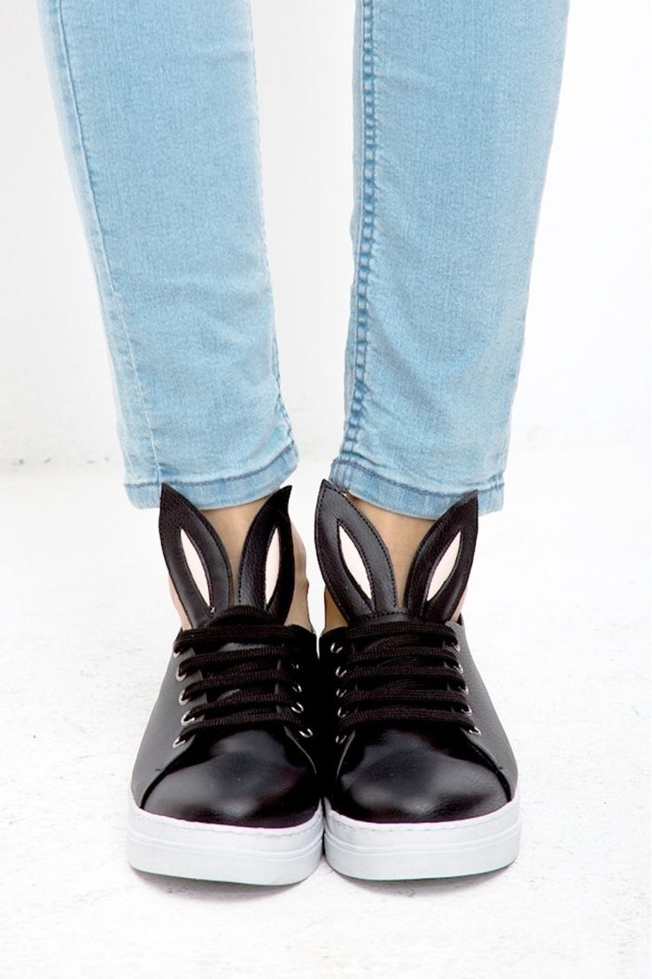 MeCrea Bunny Siyah Spor Ayakkabı: Lidyana.com