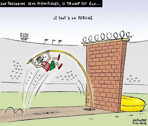 Les caricatures de Garnotte et de Pascal: Aux prochains Jeux olympiques, si Trump est élu...