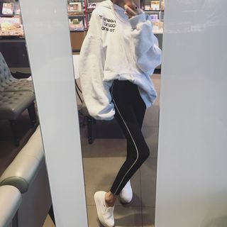 Buy Anyu Contrast-Trim Leggings at YesStyle.com! Quality products at remarkable prices. FREE WORLDWIDE SHIPPING on orders over US$35.