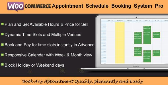 WooCommerce Appointment Schedule Booking System plugin is a WordPress Woocommerce that allows your user to book appointments for the services directly from your site from woocommerce payment system like singer, tutors,consultants, doctors ,therapists, instructors, artist, photographers, lawyer