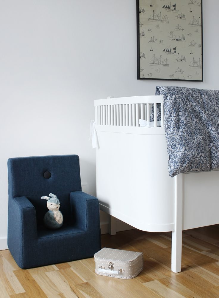Scandinavian Love Song for by KlipKlap, showing KK Kids Chair Blue with Black Button, kids' room inspiration