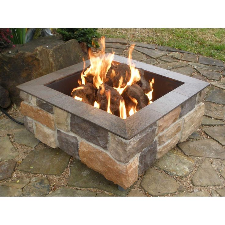 Love this square edge natural gas firepit.