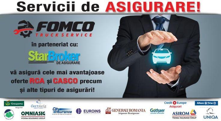 Fomco Truck Service în parteneriat cu Star Broker vă aduce acum cele mai performante asigurări auto, la cele mai avantajoase prețuri din Tg Mureș