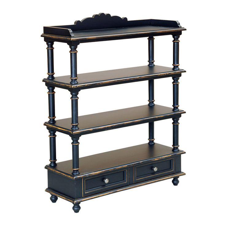 Acest raft este o piesa de mobilier perfecta deoarece puteti sa va expuneti obietele decorative pe toate cele patru rafturi. De evidentiat este faptul ca aceast raft mai are si doua sertare pentru depozitare.