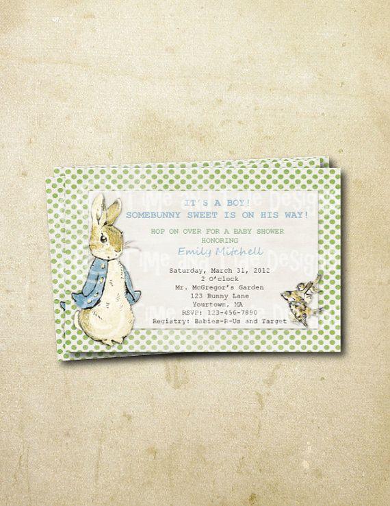 DIY Printable Custom Baby Shower  Peter Rabbit Inspired