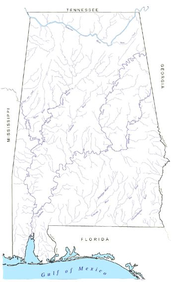 Best Maps Images On Pinterest Alabama Maps And Sweet Home - Alabama rivers map