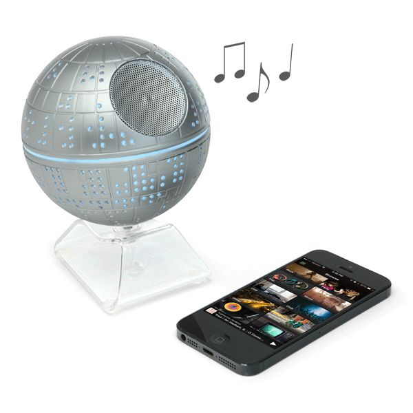 This Death Star Bluetooth Speaker is the only way to play your music if you are a part of the dark side. It will let you wirelessly stream music from up to 30 ft. away.