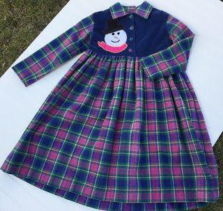 Gypsy Spoonful Marketplace: GYPSYSPOONFUL - Snowman Dress - Girl's Size 5 - RT...