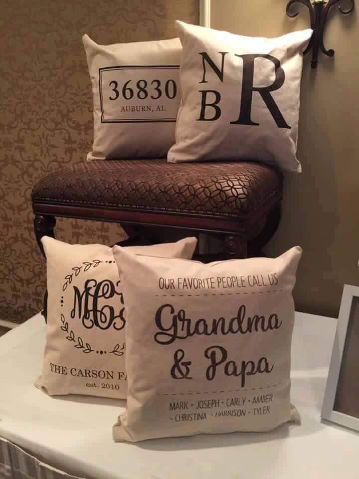 Personalized Pillow Covers $49.00 www.initialoutfitters.net/donnathomas