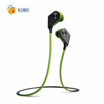 Only US$22.29, buy best KUWO K1 Wireless Bluetooth4.1 Magnet Switch Sports Stereo In-ear Headphone with Mic sale online store at wholesale price.US/EU warehouse.