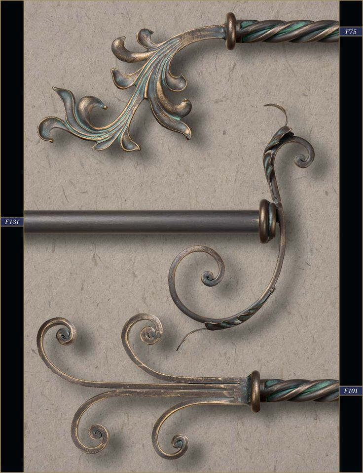 "1"" Wholesale Wrought Iron Curtain Rods & Finials – Gaby's Shoppe"
