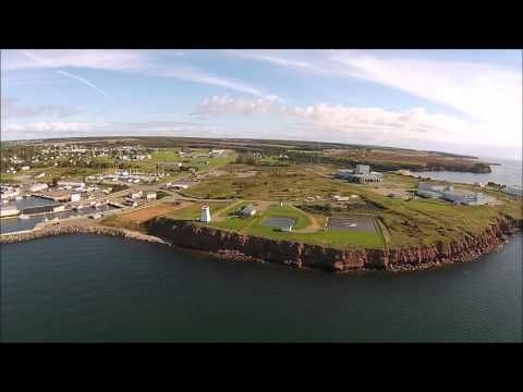 Souris Harbour - aerial fly over