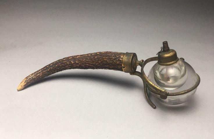 Victorian Horn Brass & Glass Gimble Cigar Lighter     eBay
