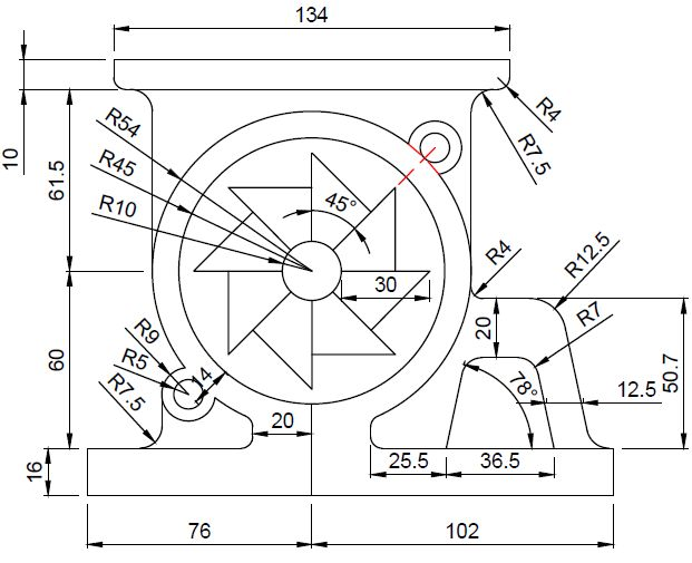 autocad 2d drawing exercise pdf