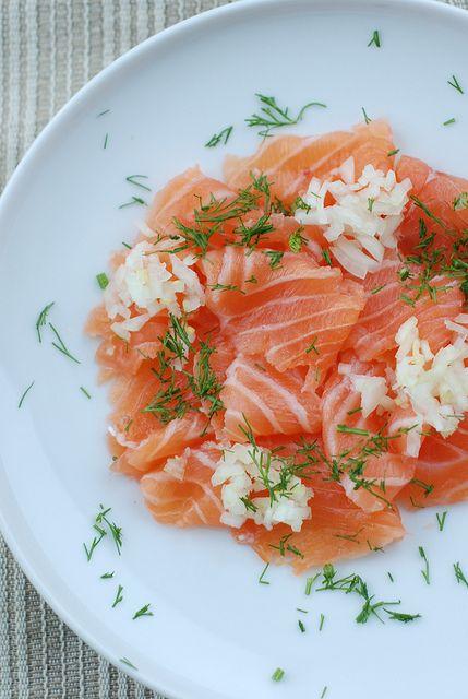 vodka marinated salmon