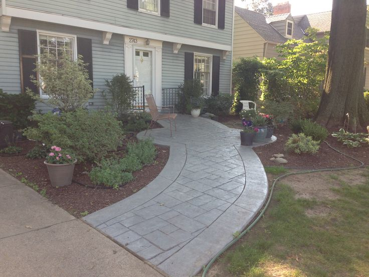 New Stamped Concrete Walkway Www Fordsonconcrete Com