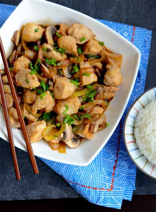 Brandied Chicken and Mushrooms in Oyster Sauce  I just came back from a nice long trip to Boston to visit family for the  holidays. I have to admit: it's been very nice to take a break from  blogging for a short while. Having been a blogger for so long (5 years!), I  sometimes have a lot of trouble separating it from daily life.