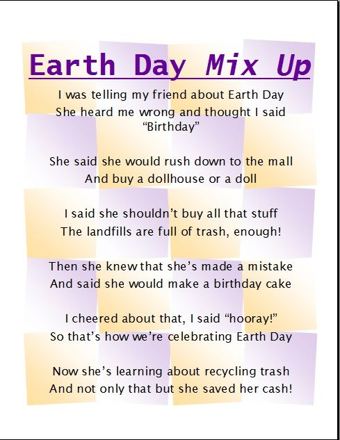 earth day poems for kids - photo #9