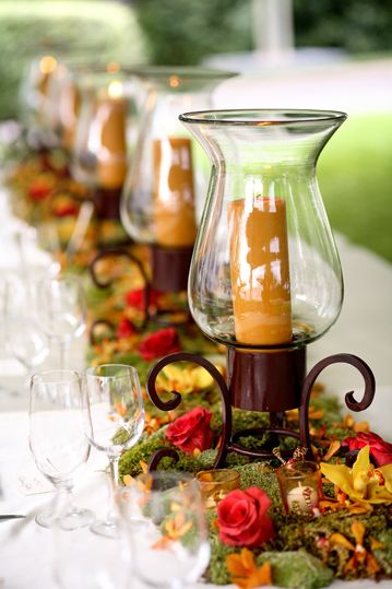 Fall Tablescape: Candle, Fall Decor, Wedding Ideas, Table Setting, Centerpieces, Fall Wedding