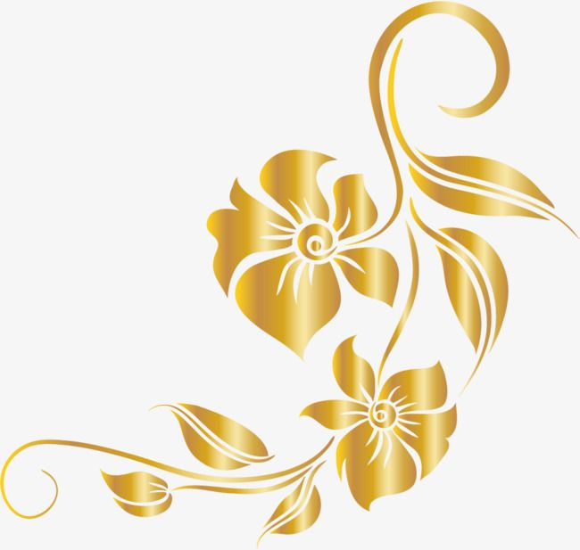 Luxury Golden Flower Flower Clipart Luxurious Leaf Png And Vector With Transparent Background For Free Download Golden Flower Flower Clipart Purple Colour Flowers