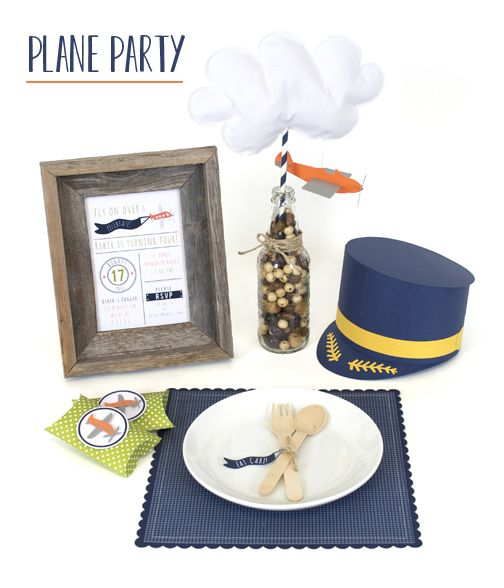 Silhouette Blog: DIY Party Week :: Plane Party