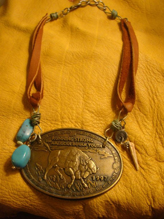Vintage Belt buckle Necklace by BelladonnApothecary on Etsy, $50.00