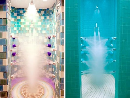 Crazy multi directional shower yes house things for Crazy bathroom design