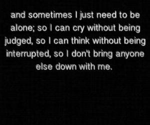 Cry at night...