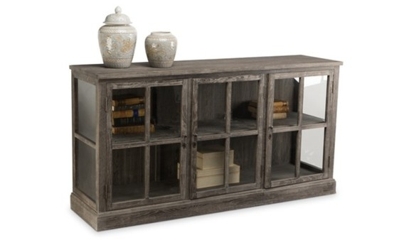 Coronado Display.  Solid Oak and Alder with a painted finish, glass door panes and Brass hardware.  L1725 x D450 x H900. COCO REPUBLIC - +612 9318 1442