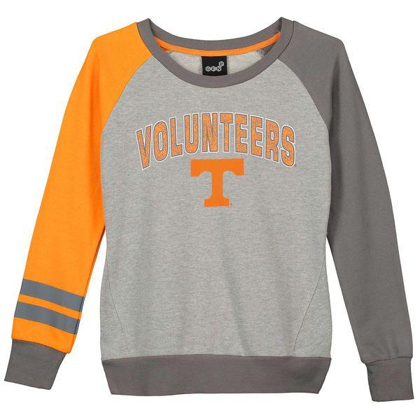 Tennessee Volunteers Girls Youth Amethyst Fleece Pullover - Gray/Tennessee Orange - $34.99