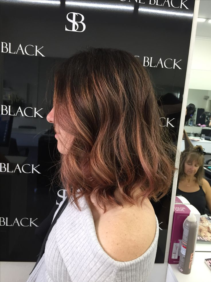 Rose gold hair is getting more and more popular, using balayage technique and wella colour we're proud to add this to the collection
