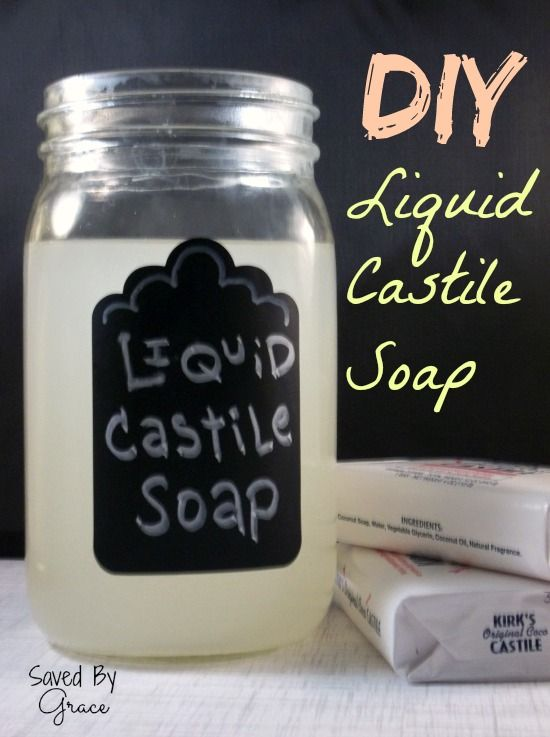 How to Turn Bar Castile Soap into a Concentrated Liquid - Saved By Grace