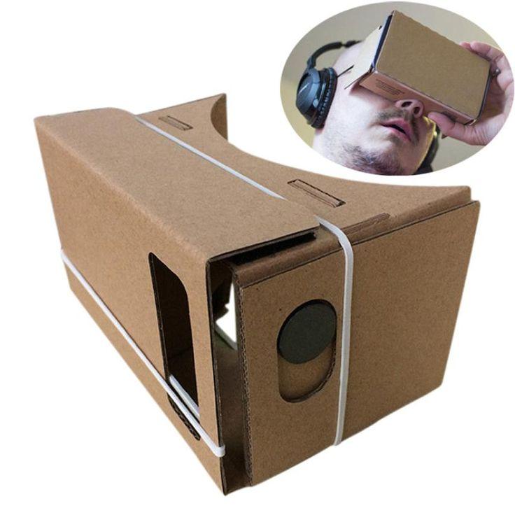 Ловкий 6 дюймов DIY Google Картон 3D VR Виртуальная Реальность Очки Двп Бесплатная Доставка DEC10