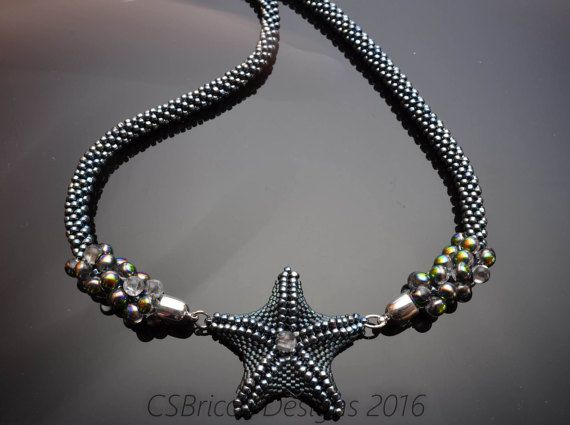 Beaded Starfish Tutorial/ Seed Bead Starfish/ by CSBriccaDesigns