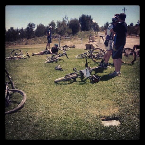 Mountain biking on #stromlo for #humanbrochure