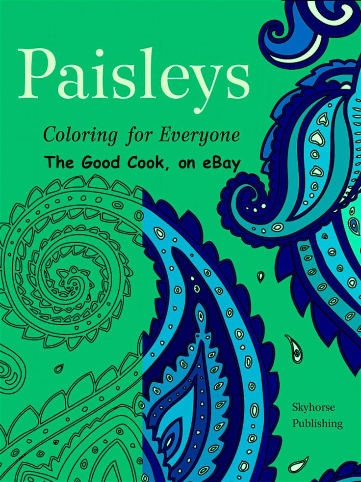 Paisley Patterns Adult Coloring Book Anti Stress Art Therapy For Busy People New