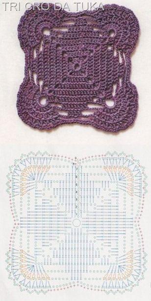 Cuadrado Granny en crochet