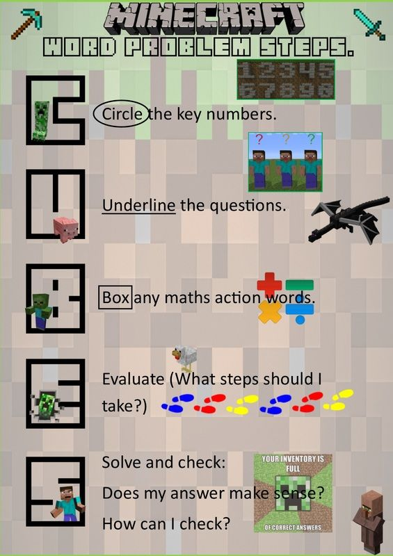 Minecraft Maths Word Problem Solver