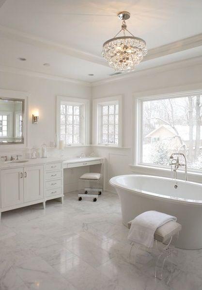 Best 25 Bathroom chandelier ideas on Pinterest  Master bath Chandelier in bathroom and