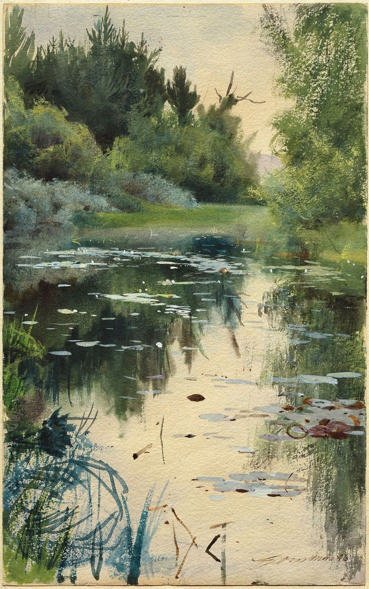 Anders Zorn, A Natural Landscape