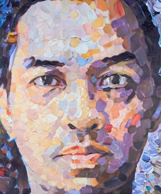 Pointilism. 2009. 180x150 cm. Oil on canvas.