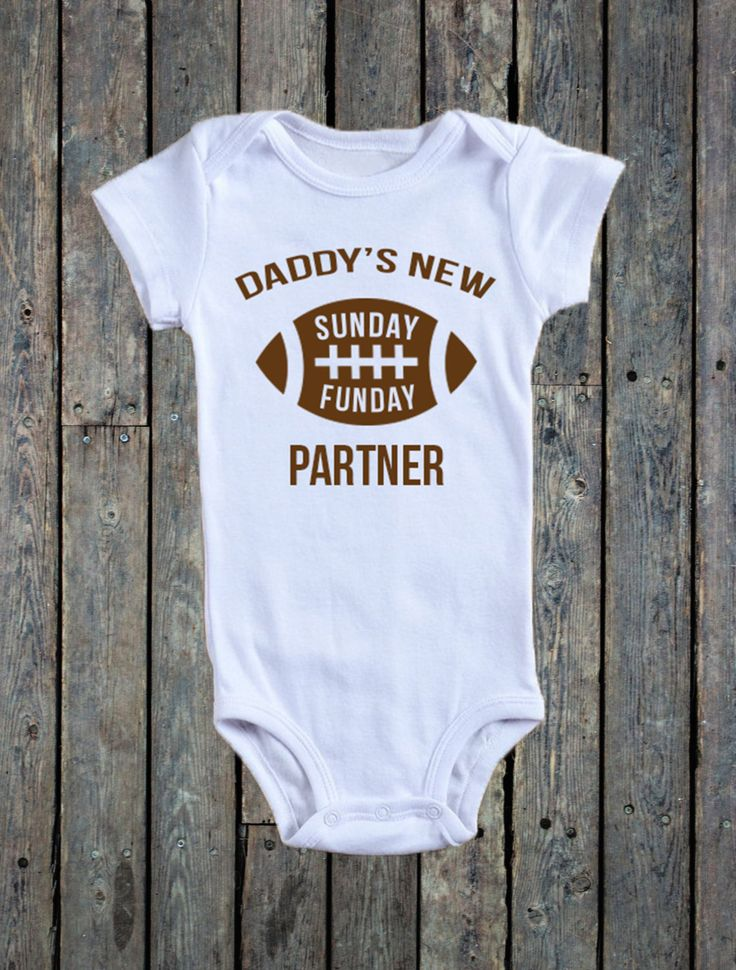 Daddy's New Sunday Funday Partner Onesie®/ Football Onesie®/ Sunday Funday Onesie®/ Baby Boy Onesie®/ Baby boy bodysuit/ Super Bowl Sunday by RustikBoutique on Etsy