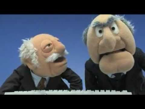 Statler and Waldorf turn on their computer