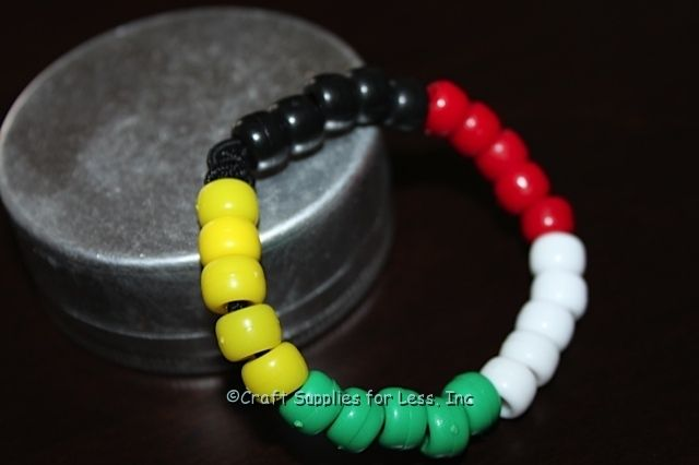 Make bracelets with meaning! TheseSalvation Bracelets are easily made with Pony Beads and Elastic Cord. Bracelets are one size fits all! Perfect forVacation Bible School,Children's Ministry, ...