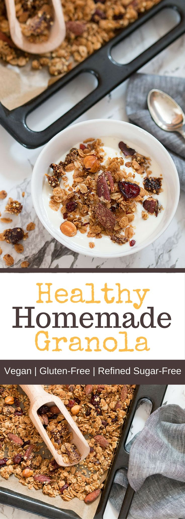 Homemade, healthy granola is super easy to make and gives you control over the amount of sugar and quality of ingredients. Granola is generally perceived as a healthy food but some brands can hide spoonfuls of sugar and fat amid the more wholesome nuts and oats. But it doesn't have to be that way, if you make your own you have total control and you can play around with different flavours. What's your favourite ingredient in granola?