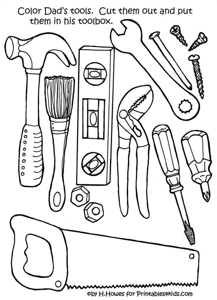 Printable Tools Template Father S Day Printable Father S Day Activities Fathers Day Crafts