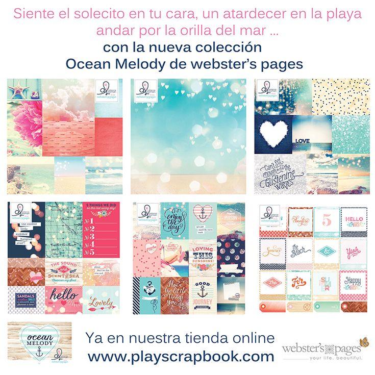 Ocean Melody la nueva colección de Webster'spages ya disponible en nuestra tienda online #websterspages #playscrap #oceanmelody #scrapbooking