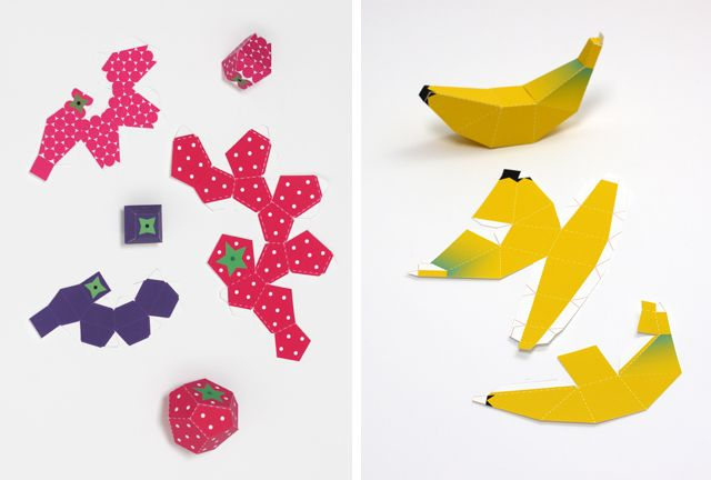 Paper - fruit templates