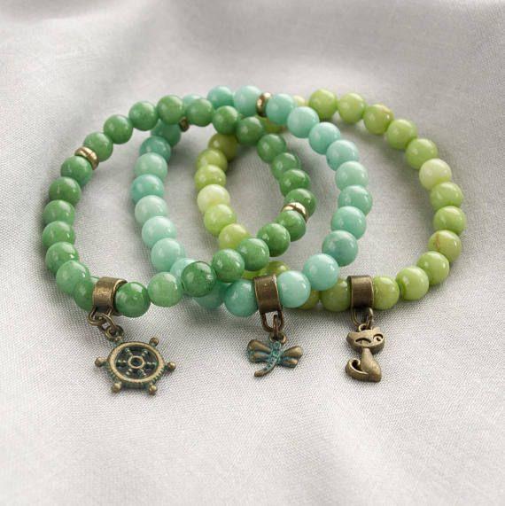 #stretchbracelets #braceletset. #beaded bracelet #Jadestone #jadebracelet #greenstone #greenbracelet